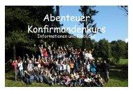 Konzept des KonfiKurses - Evangelische Kirchengemeinde ...
