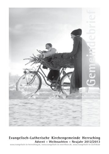 Gemeindebrief Dezember 2012 bis Januar 2013 - Evangelische ...