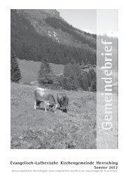 Gemeindebrief Juni bis August 2012 - Evangelische ...