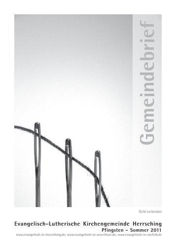 Gemeindebrief Juni bis August 2011 - Evangelische ...