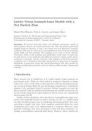 Lattice Versus Lennard-Jones Models with a Net Particle Flow