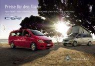 Preise für den Viano - Mercedes-Benz Schweiz