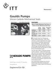 SES Pump Mechanical Shaft Seal