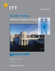 Goulds pumps vertical turbine pumps