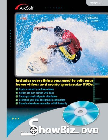 ArcSoft ShowBiz DVD 2.1 Manual