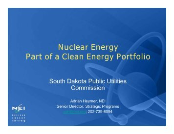 Nuclear Energy Part of a Clean Energy Portfolio - South Dakota ...