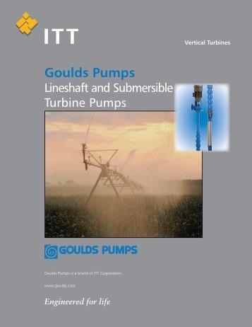 Vertical Lineshaft & Submersible Turbine Pumps Brochure