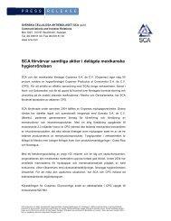 Pressmeddelandet i PDF - SCA