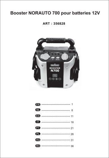 booster one 700 pour batteries 12v norauto. Black Bedroom Furniture Sets. Home Design Ideas