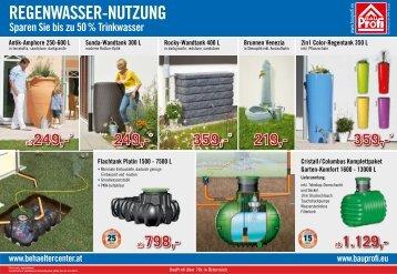 REGENWASSER-NUTZUNG - Bauprofi
