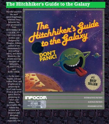 The Infocom Gallery: The Hitchhiker's Guide to the Galaxy