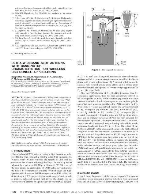 Ultra-wideband slot antenna with band-notch characteristics