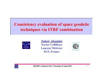 Consistency evaluation of space geodetic techniques via ITRF ...
