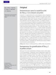 Inmunoensayo para la cuantificación de Dac g 1 en extractos de polen