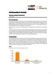Peiling afvalinzameling: resultaten