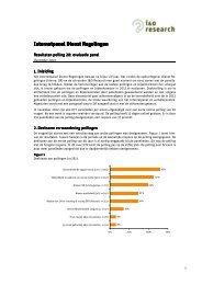 maart 2013: nieuwsbrief resultaten evaluatiepeiling