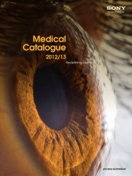 Medical Catalogue - Sony of Canada | Professional Solutions