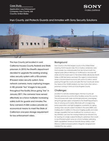 Inyo County Jail Protects Guards and Inmates - Anixter