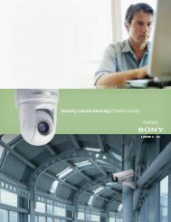 Security Camera Housings - Sony of Canada | Professional Solutions