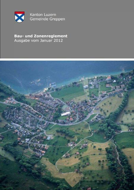 Bau- und Zonenreglement (BZR) - Gemeinde Greppen