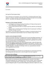 Schul- und familienergänzende Tagesstrukturen SJ 2013/14 ...
