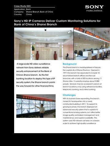 Sony's HD IP Cameras Deliver Custom Monitoring Solutions for ...