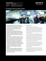 IP cameras drive up public security - Sony Professional Solutions ...