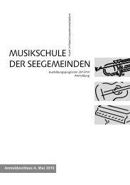 Programm Musikschule - Gemeinde Greppen