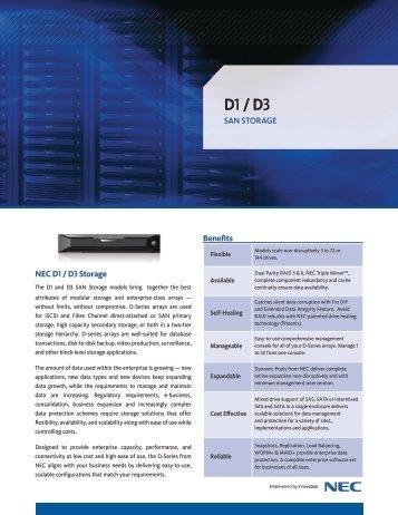 SAN Storage D1/ D3/ D3i