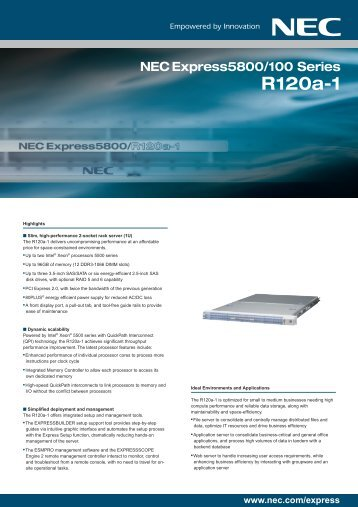 R120a-1 Brochure - NEC Philippines, Inc.