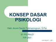 KONSEP DASAR PSIKOLOGI - Staff UNY