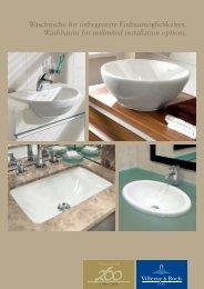 Built-in washbasins - eBuild