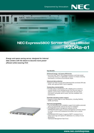 NEC Express5800/i120Ra-e1 - NEC Philippines, Inc.