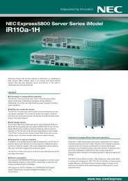 NEC Datacenter Server Express5800/iR110a-1H