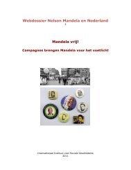 Webdossier Nelson Mandela en Nederland Mandela vrij!