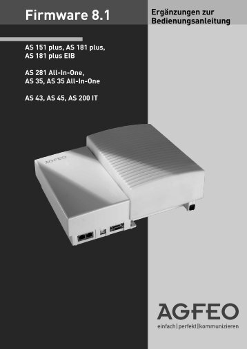 Firmware 8.1 - Agfeo