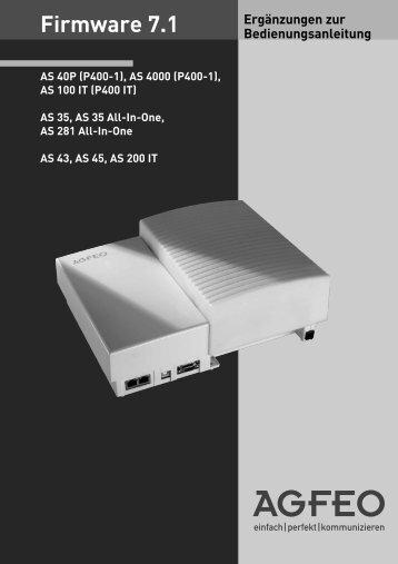 Firmware 7.1 - Agfeo