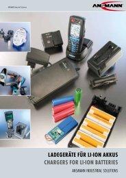 ladegeräte für li-ion akkus CHargers for li-ion Batteries - Ansmann