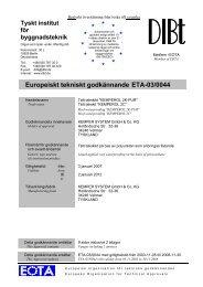 Europeiskt tekniskt godkännande ETA-03/0044 - KEMPER SYSTEM