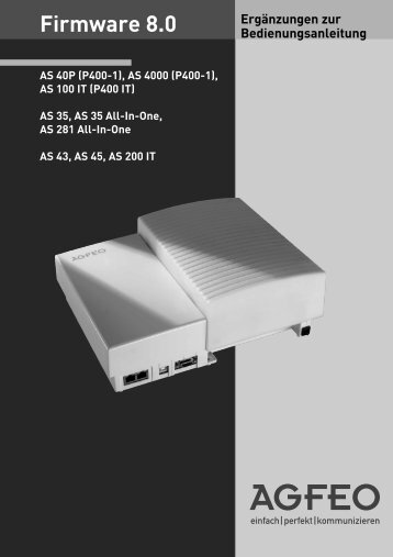 Firmware 8.0 - Agfeo