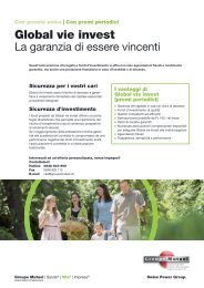 Flyer Global vie invest con premi periodici - PDF - Groupe Mutuel