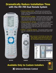 Dramatically Reduce Installation Time with the MX-700 ... - One Call