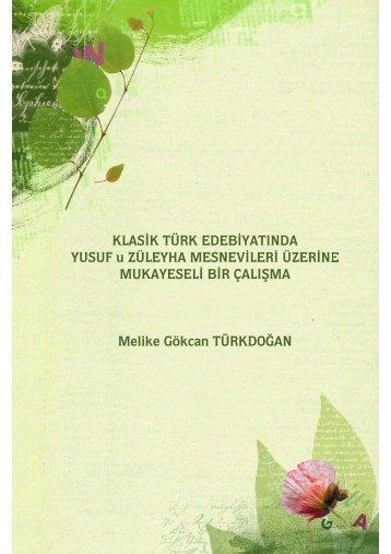 Melike Gökcan TÜRKDOĞAN - e-Kitap - Kültür ve Turizm Bakanlığı