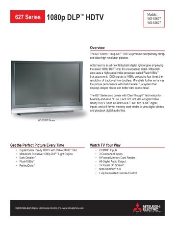 627 Series 1080p DLP™ HDTV - One Call