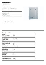Panasonic KX-TEA308E - Panasonic Business