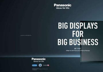 1080p Full HD Professional Plasma Displays - Panasonic Business