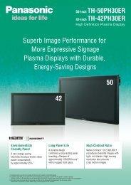 TH-42PH30 / TH-50PH30 Brochure - Panasonic Business