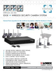 Wireless security camera system - MCM Electronics