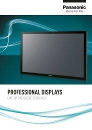 PROFESSIONAL DISPLAYS - Panasonic Business