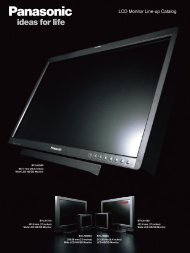 LCD Monitor Line-up Catalog - Panasonic Business